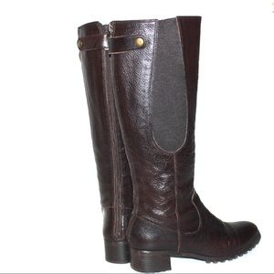 Etienne Aigner Shoes - Etienne Aigner Valentina Brown Leather Riding Boot